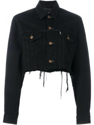 Укороченная джинсовая куртка Blackyoto. Цвет: чёрный