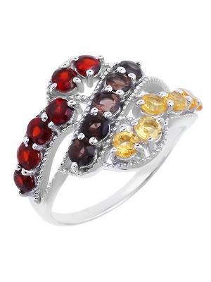Кольцо BALEX. Цвет: желтый, коричневый, серебристый, красный