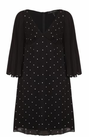 Шелковое мини-платье со стразами Marc Jacobs. Цвет: черный