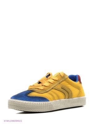 Кеды GEOX. Цвет: желтый, синий