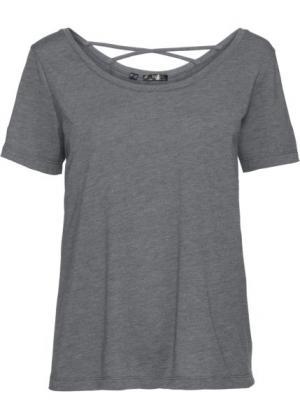 Футболка с коротким рукавом для легких видов спорта (серый меланж) bonprix. Цвет: серый меланж