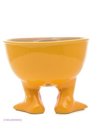 Миска (тарелка) средняя Efeet Collection. Цвет: оранжевый
