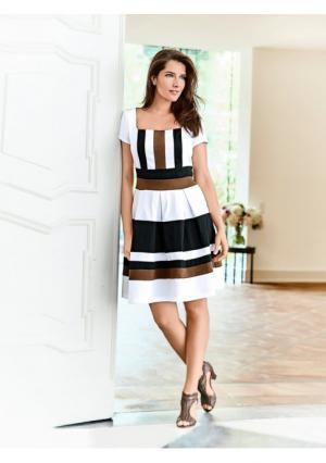 Платье Ashley Brooke. Цвет: белый/коньячный