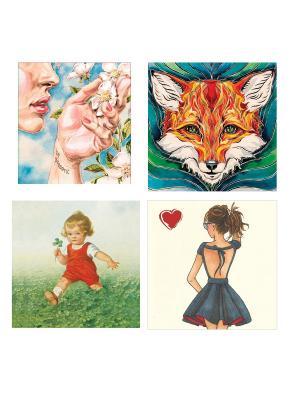 Набор поздравительных открыток №3 Даринчи. Цвет: белый