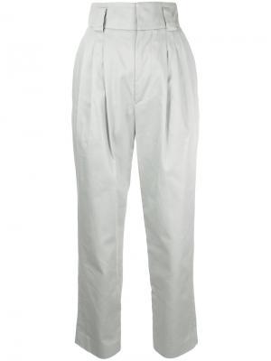 Укороченные брюки Mikio Sakabe. Цвет: серый
