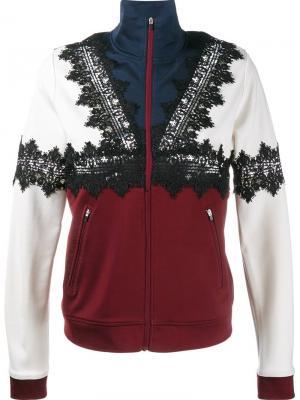 Спортивная куртка с кружевными аппликациями Ganni. Цвет: многоцветный