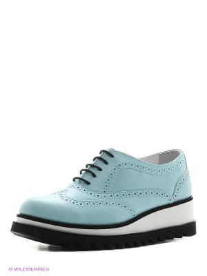 Туфли Gavary. Цвет: серо-голубой