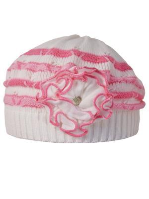 Берет Achti. Цвет: молочный, розовый, светло-коралловый