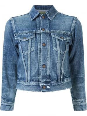 Cropped denim jacket Fabiane Roux. Цвет: синий