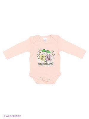 Пижама ясельная MP0102 02 цвет персиковый, вишенка Квирит. Цвет: персиковый