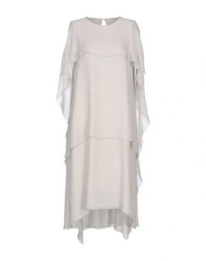 Платье длиной 3/4 MAISON LAVINIATURRA. Цвет: светло-серый