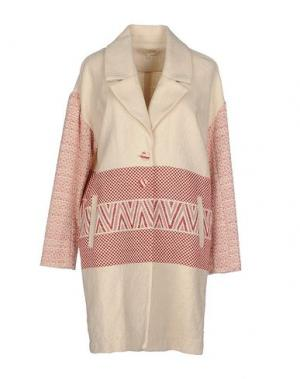 Легкое пальто LA FEE MARABOUTEE. Цвет: бежевый