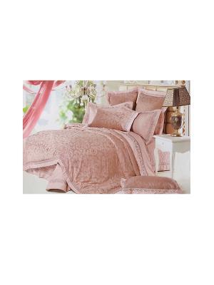 Комплект постельного белья 6 предметов HAMRAN. Цвет: розовый