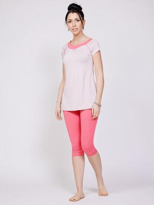 Пижама NicClub. Цвет: розовый, светло-бежевый