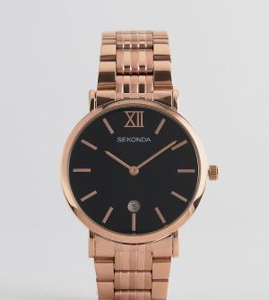 Sekonda Розово-золотистые часы-браслет эксклюзивно для ASOS. Цвет: золотой