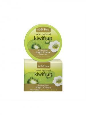 Ночной крем Kiwifruit Night Creme для лица с антиоксидантами и экстрактом киви, 100 мл Wild Ferns. Цвет: белый
