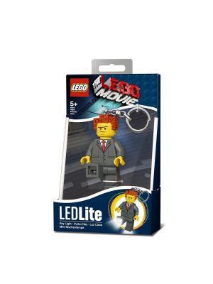 Брелок-фонарик для ключей LEGO MOVIE - President Business. Цвет: серый, коричневый, желтый