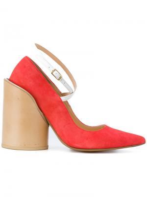 Туфли-лодочки на каблуке Jacquemus. Цвет: розовый и фиолетовый