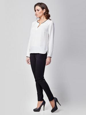 Блузка VILATTE. Цвет: белый, бежевый, синий