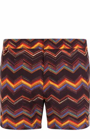 Плавки-шорты с принтом Missoni. Цвет: бордовый