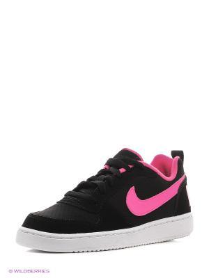 Кеды NIKE COURT BOROUGH LOW (GS). Цвет: черный, розовый, белый