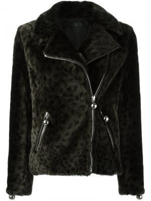 Куртка с леопардовым принтом Drome. Цвет: зелёный