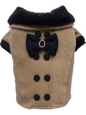 Пальто Doggy Dolly. Цвет: коричневый