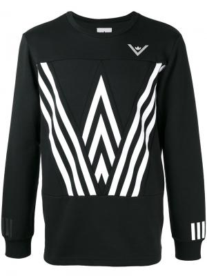 Толстовка с графическим принтом Adidas By White Mountaineering. Цвет: чёрный