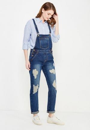Комбинезон джинсовый Befree. Цвет: синий