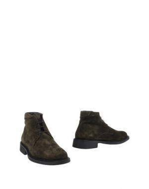 Полусапоги и высокие ботинки GOLD BROTHERS. Цвет: зеленый-милитари