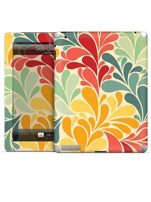 Виниловая наклейка для iPad 2,3,4 Sea Garden-Cosmo Cricket Gelaskins. Цвет: светло-бежевый, красный, желтый