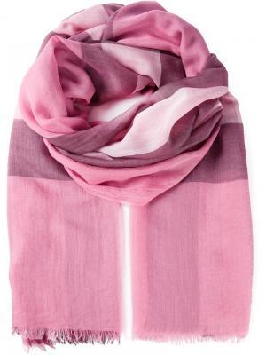 Шарф с принтом в клетку Burberry. Цвет: розовый и фиолетовый