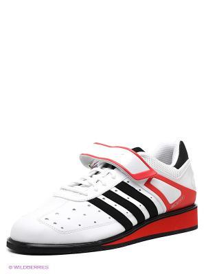 Штангетки Power Perfect II Adidas. Цвет: белый, красный, черный