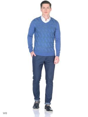Пуловер Milton. Цвет: серо-голубой