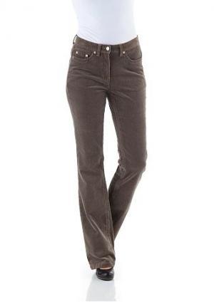 Вельветовые брюки CHEER. Цвет: серо-коричневый