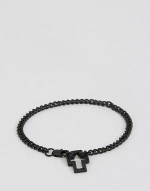 Icon Brand Черный браслет-цепочка. Цвет: черный