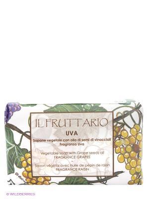 Натуральное мыло с ароматом винограда  и экстрактом виноградных косточек, 150 гр Iteritalia. Цвет: светло-желтый