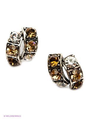 Серьги Royal Diamond. Цвет: коричневый