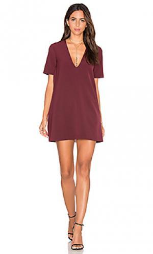 Мини платье bardo VIVIAN CHAN. Цвет: красное вино