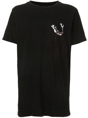 Blood Mandible Shotgun T-shirt Amiri. Цвет: чёрный