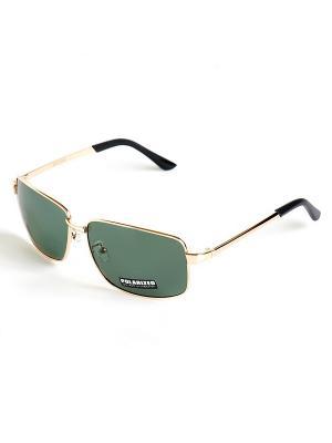 Солнцезащитные очки Selena. Цвет: золотистый, черный, зеленый