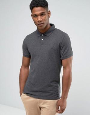 Jack Wills Темно-серая футболка-поло. Цвет: серый