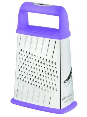 Терка четырехгранная с контейнером BOHMANN. Цвет: фиолетовый