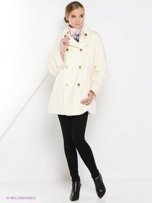 Пальто Estrade. Цвет: белый