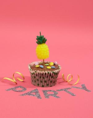 Sunnylife Свечи на день рождения в форме ананаса. Цвет: мульти