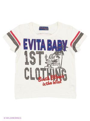 Футболка Evita Baby. Цвет: бежевый