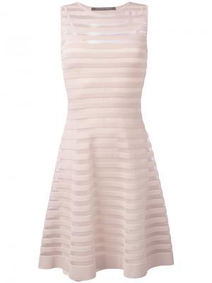 Полупрозрачное платье с расклешенной юбкой Antonino Valenti. Цвет: телесный