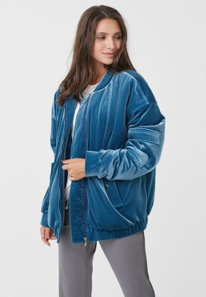 Куртка утепленная Fly. Цвет: голубой