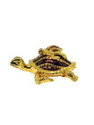 Шкатулка две черепахи Yen Ten. Цвет: коричневый, золотистый
