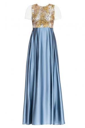 Платье из шелка 165184 Villa Turgenev. Цвет: разноцветный